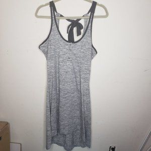 Avalanche Strappy Cutout Tie HiLow Dress Gray M